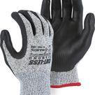 Majestic 37-1565-P Cut Resistant Dyneema Black Nitrile Palm Gloves Cut-Less Diamond (Pair)