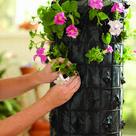 Platzsparende Deko für Garten und Terrasse - Blumenturm selber machen