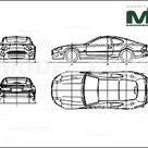 Aston Martin DB7 Vantage 1999   2D drawing blueprints   29886   Model COPY   English