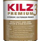KILZ Premium Interior or Exterior Multi Purpose Water Based Wall and Ceiling Primer 1 Quart   13002
