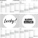 Kalender 2018 zum Ausdrucken, in schwarz-weiss, mit Möglichkeit zum Eintragen von Terminen, mit Anzeige der Kalenderwochen, Wochentagen und Feiertagen. Jetzt kann das Jahr 2018 kommen, mit dem Wandkalender kann nichts mehr schiefgehen.