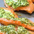 Spinach Stuffed Salmon