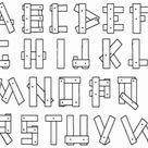 Kleurplaten Letter of karakter - Alfabet kleurplaat
