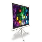 Pyle Floor-Standing Tripod White Portable Projector Screen White 5.0 x 7.75 x 53.0 in, Metal   Wayfair Canada