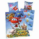 Herding Super Wings Kinder Renforcé Bettwäsche 135x200 cm + 80x80 cm - 135x200 cm + 80x80 cm