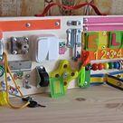 Busy Board Set Montessori Furniture for Kids Room Montessori | Etsy