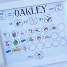 Magnet Routine chart, Now and Next, visual aid, magnet Routine board, Daily routine and tasks chart, ASD, Autism, ADHD, dyslexia, family