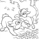Thumper Playing Around With Miss Bunny Coloring Page - Download & Print Online Coloring Pages for Free