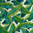 Resort Palm Leaf in Green Outdoor Fabric