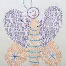 Kalligram Vlinder tekenen