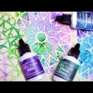 Color Bursts & Stencil Quickie Tip!