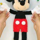 Mickey Mouse Amigurumi crochet pattern, Crochet disney pattern, amigurumi animal, knitted mickey