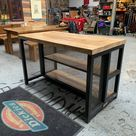 Industrial Kitchen Island made from metal & wood scaffold   Etsy 👍 Pin for later ⏳ restaurant supply near me, restaurant supply store near me, kitchen supply store near me, restaurant supplier, commercial kitchen equipments
