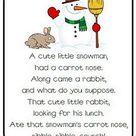 Snowman Poem Freebie! - Classroom Freebies