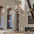 3/5/6/7/8/9 Lights Molecular Glass Pendant light Chandeliers suspension lamp    eBay
