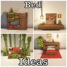 Minecraft bed designs   IG @minecraft.luki7