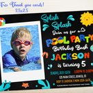 Photo Pool party invitation Pool party birthday invitation   Etsy
