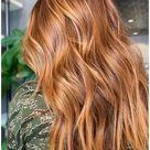 natural red hair balayage