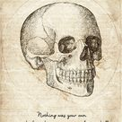 Skull Quote by George Orwell by Zapista OU