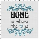 Home is where the wifi is  Cross Stitch Pattern  Instant   Etsy