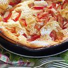 Rhabarber-Topfen-Omelett