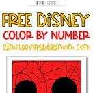 Free Disney Color By Number Printables For Kids