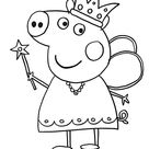 Coloring Pages Peppa Pig Car