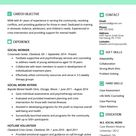 Social Work Resume Sample & Writing Guide | Resume Genius