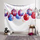 Christmas Hanging Balls Tapestry - 200x150cm