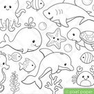 Rainforest animals  Digital Stamps  Clipart | Etsy
