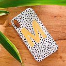 Mustard Personalised Dalmatian Phone Case - iPhone SE (2020)