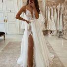 Sexy Brautkleider A linie   Wunderschone Hochzeitskleid Mit Spitze