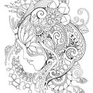 Magic Mask Adult Coloring Book Coloring pages PDF Coloring   Etsy