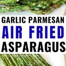 Air Fried Asparagus with Garlic and Parmesan | Keto Friendly