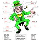 Spanish St. Patrick's Day Label the Leprechaun Body Parts   Cuerpo San Patricio
