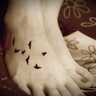 Swallow Tattoo Foot