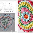 Heart-shaped coasters Motif graphical ⋆ Crochet Kingdom