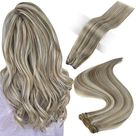 Full Shine Sew In Hair Weft Bundles 100% Remy Human Hair Highlights (#8P60) - 22\ 100g / #8P60