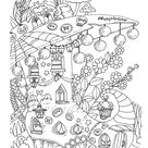 Nice Little Town: Halloween (Adult Coloring Book, Coloring pages PDF, Coloring Pages Printable, For Stress Relieving, For Relaxation)