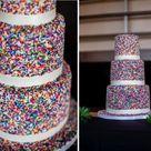 Sprinkle Wedding Cakes