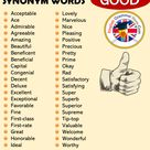 Synonym Words - GOOD, English Vocabulary - English Grammar Here
