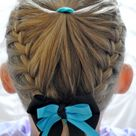 Quirky braid hairstyle for girls + step by step instructions - The Organised Housewife