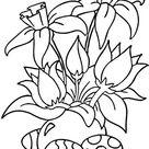 Ausmalbilder Osterblumen | Ausmalbild Osterblume mit Eiern zum Ausdrucken