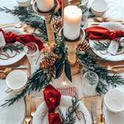 Easy Christmas Table Setting with Red – Hallstrom Home