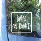 Baby on Board Car Decal   Safety Bumper Sticker - Black