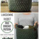 Crochet pattern. DIY. Crochet a basket.