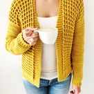 Crochet Cardigan PDF Pattern / Honey Waffle Cardigan / Digital Download Crochet Pattern  / Women / Cozy Crochet Cardigan