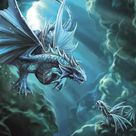Water Dragon Cards - 6 Pack
