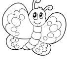 Ausmalbild Schmetterling 8 zum Ausdrucken