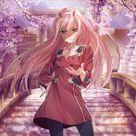 Beautiful, zero two, uniform, anime girl wallpaper